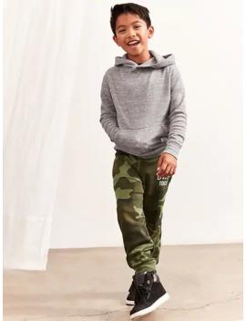 Kids Slim Fit Gap Logo Fleece Pants by Gap