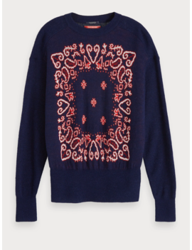 Jacquard Crew Neck Pullover by Scotch&Soda