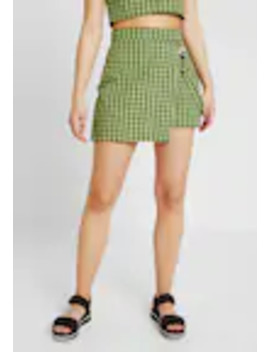 Check Wrap Over Skort With Strap   Shorts by The Ragged Priest