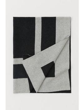 Jacquard Weave Wool Blanket by H&M