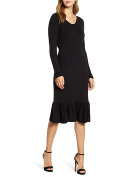 Ruffle Trim Sweater Dress by Rachel Parcell