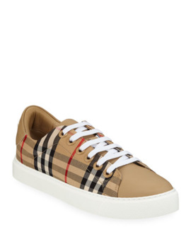 Albridge Check Sneakers by Burberry