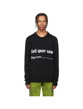 Black 'sell Your Soul' Sweater by Nasaseasons