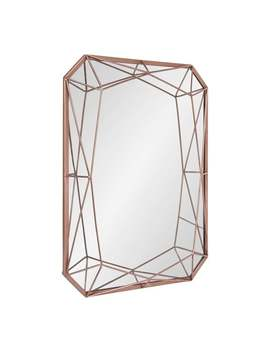 Kate And Laurel Keyleigh Metal 22 Inch X 28 Inch Rectangle Accent Wall Mirror   Rose Gold by Kate And Laurel