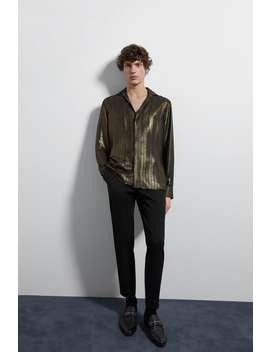 Metallic Striped Shirt by Zara