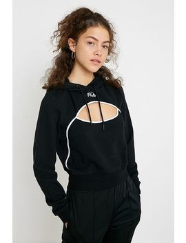 Fila Uo Exclusive Pacific Cut Out Black Supercrop Hoodie by Fila