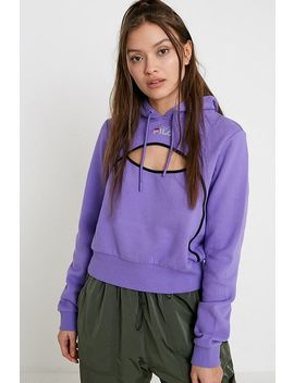Fila Uo Exclusive Pacific Cut Out Purple Supercrop Hoodie by Fila