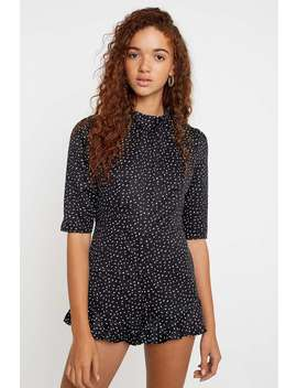 Uo Tonya Crepe Keyhole Playsuit by Urban Outfitters