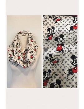 Mickey Mouse Scarf  Now Available In Regular And Infinity! by Etsy