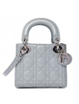 Christian Dior Patent Cannage Quilted Mini Lady Dior Light Blue by Christian Dior