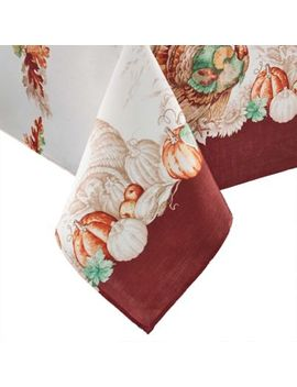 Elrene Home Fashions Holiday Turkey 60 Inch X 120 Inch Tablecloth by Bed Bath And Beyond