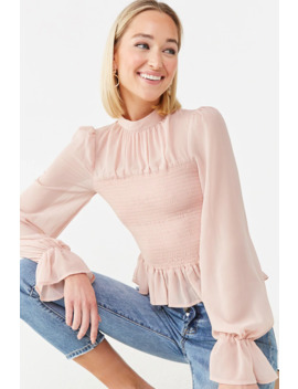 Ruffled Smocked Top by Forever 21