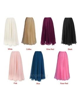 Maxi Long Bohemian Restore Women Shinning Chiffon Long Skirts 9 Colors by Wish