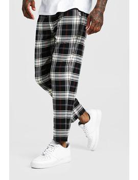 Multi Check Smart Cropped Jogger Trouser by Boohoo