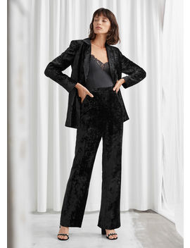Tailored Velvet Trousers by & Other Stories