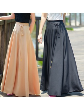 Womens Chiffon Retro Long Maxi Skirt Vintage Dress  by Wish