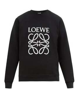 Embroidered Logo Cotton Jersey Sweatshirt by Loewe