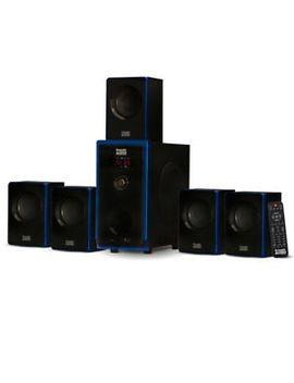 Acoustic Audio 5.1 Bluetooth 6 Speaker System Home Theater Surround Sound New by Acoustic Audio