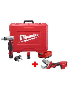 M12 12 Volt Lithium Ion Cordless Pro Pex Expansion Tool Kit With Free M12 Pvc Pipe Shear by Milwaukee