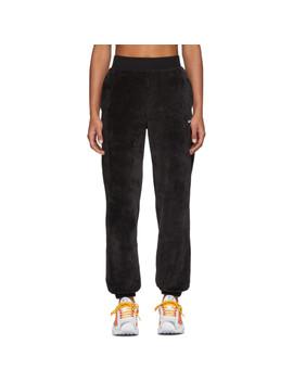 Black Velour Lounge Pants by Nike