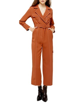 Topstitched Flying Jumpsuit by Topshop