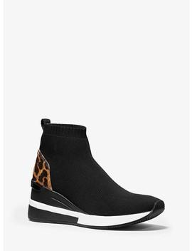 Skyler Leopard Print Stretch Knit Sock Sneaker by Michael Michael Kors