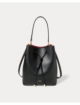 Leather Debby Drawstring Bag by Ralph Lauren