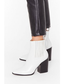 Follow Me Faux Leather Chelsea Boots by Nasty Gal