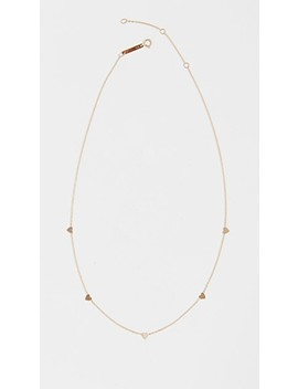 14k Gold Itty Bitty Hearts Necklace by Zoe Chicco