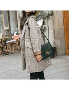 Heiti   Plaid Double Breasted Coat by Heiti