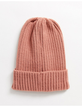 Brave Soul Ribbed Beanie Hat In Pink by Asos