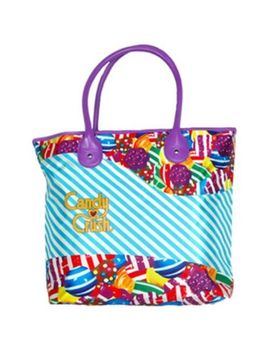 Candy Crush Blue Stripe Tote Bag   16 Inches X 13 Inches by King