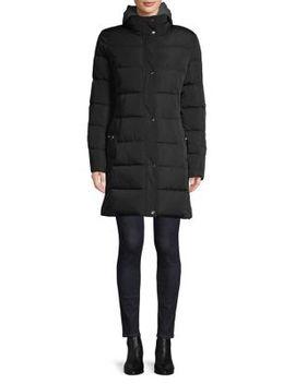 Fleece Hood Long Puffer Jacket by Tommy Hilfiger