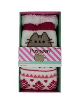 Pusheen Knitted Chunky Sock by Misirli