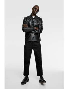 Leather Overshirt by Zara