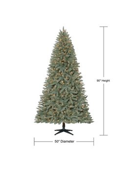 Holiday Time Pre Lit 7.5' Birchwood Fir Artificial Christmas Tree, Clear Lights by Holiday Time
