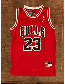 #23 Michael Jordan Chicago Bulls Throwback Red Jersey Men's Or Youth by Ebay Seller