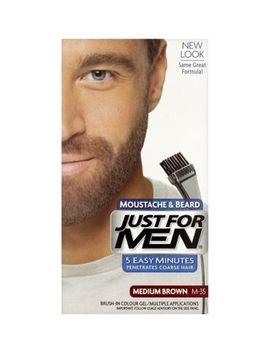 Just For Men Moustache & Beard Brush In Colour Gel, Medium Brown by Just For Men