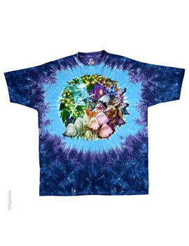 New Mushroom Garden Tie Dye T Shirt by Liquid Blue