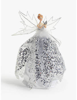 John Lewis & Partners Snowscape Fairy Tree Topper, Silver by John Lewis & Partners