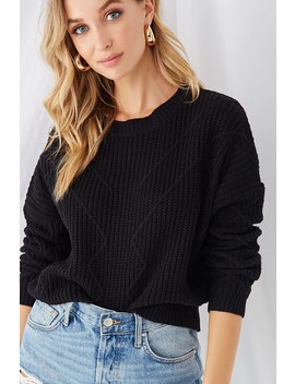 Geo Stitched Ribbed Sweater by Forever 21