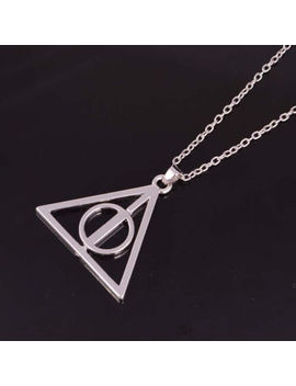 Fashion Deathly Hallows Metal Necklace Pendant Film Movie Harry Potter Gift Hot by Ebay Seller
