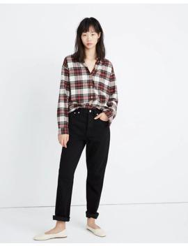 Flannel Shirt Jacket In Tartan Plaid by Madewell