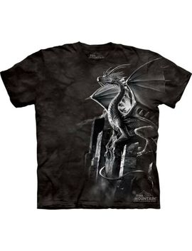Silver Dragon T Shirt By The Mountain. Fantasy Tee Sizes S 5 Xl New by The Mountain