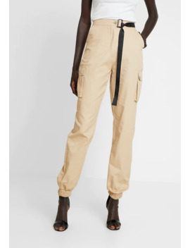 High Waisted Belted Trouser   Cargobroek by Missguided Tall