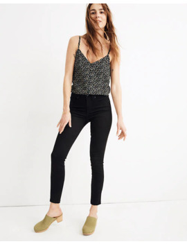 """9"""" Mid Rise Skinny Crop Jeans In Isko Stay Black™: Raw Hem Edition by Madewell"""