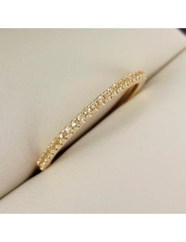 Micro Pave Yellow Sapphire Eternity Band   18 K Yg Band   Wedding Band   Stacking Bands by Etsy