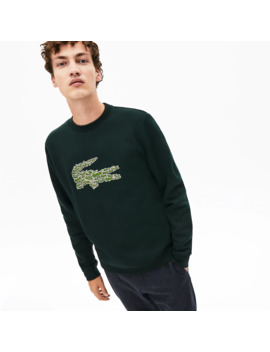 Men's Crewneck Croco Magic Logo Fleece Sweatshirt by Lacoste