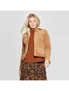 Women's Corduroy Sherpa Jacket   Universal Thread™ Brown by Universal Thread