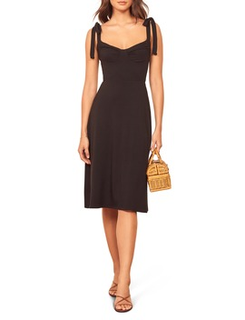 Wells Tie Shoulder Stretch Tencel® Lyocell Dress by Reformation